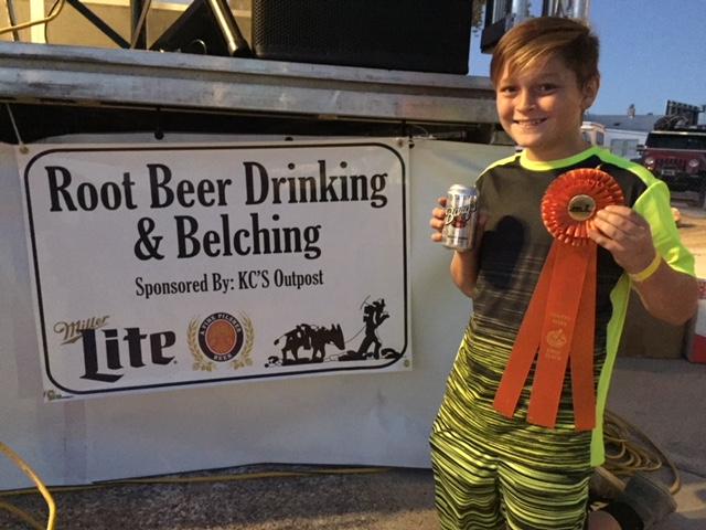CJ belching contest