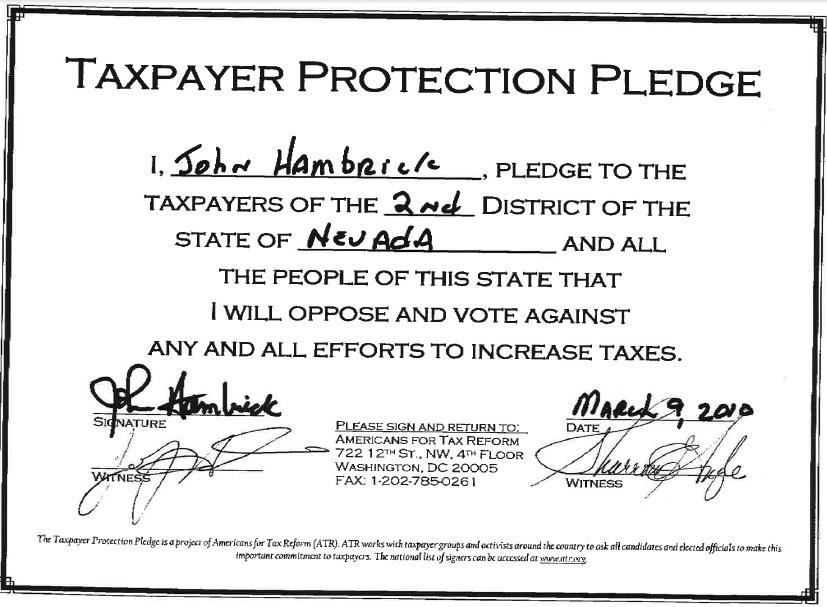 Hambrick Tax Pledge